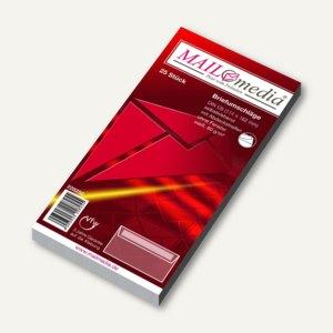 MAILmedia Briefhüllen DIN C6, haftklebend, 80g/m², 25 Stück, 21825/0