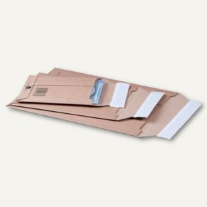 Versandtasche - DIN B4+, Wellpappe, 303 x 414 x 52 mm, braun, 25 St., 210100825
