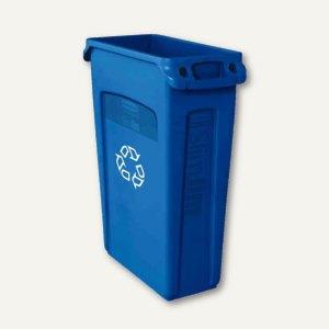 "Abfallbehälter ""Slim Jim"" 60 Liter, blau mit Recycling-Logo, FG354173BLUE"