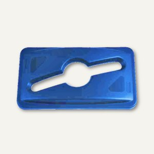 """Rubbermaid Deckel für Recycling-Abfalle """"Slim Jim"""", blau, 1788372"""