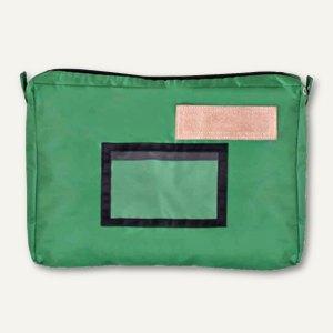 JPC Banktasche mit Dehnfalte, 427 x 300 mm, Nylon, Reißverschluss, grün, 900312