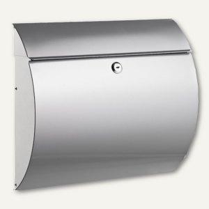 Alco Briefkasten - 37.5 x 33 x 12 cm, Metall, gerundet, silber, 8607