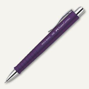 Faber-Castell Druckkugelschreiber POLY BALL XB - Stärke 0.6 mm, pflaume, 241137