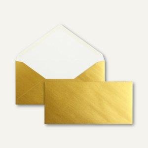 officio Briefumschläge DIN lang, 90 g/m², nassklebend, gold, 100 Stück, 2512892