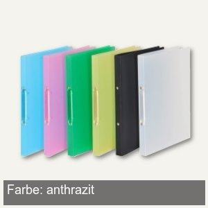 FolderSys Ringbuch - DIN A4, 2-Ringe 16 mm, PP, anthrazit-transluzent, 21071-34