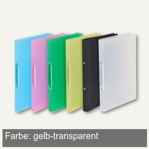 FolderSys Ringbuch - DIN A4, 2-Ringe 16 mm, PP, gelb-transparent, 21071-64