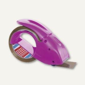 Tesa Handabroller pack'n'go, für Packbänder 50 m x 60 mm, pink, 51113