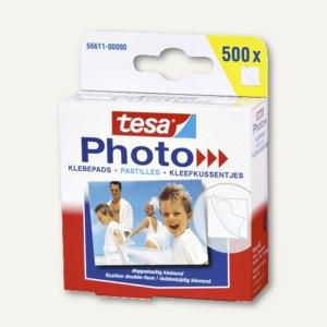 Tesa Photo® Foto-Klebepads, 500 Stück, 56611