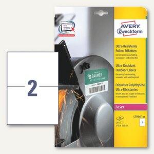 Folien-Etiketten - ultra-resistent, 210x148 mm, permanent, weiß, 20St., L7916-10