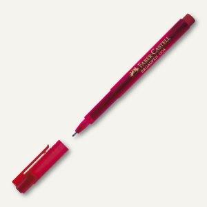 Faber-Castell Fineliner BROADPEN 1554, Strichstärke 0.8 mm, rot, 155421