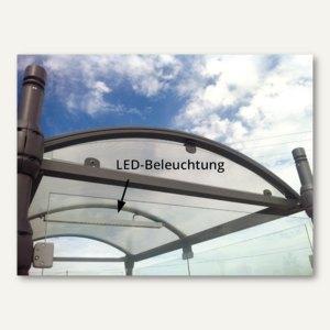 LED-Beleuchtung für Raucherunterstand