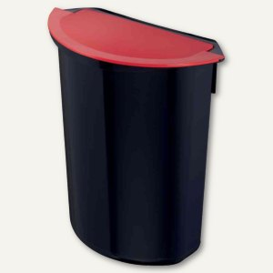 """Zwingo Abfalleinsatz """"integral"""" - 7 Liter, 282x147x320 mm, schwarz/rot, Z1440792"""