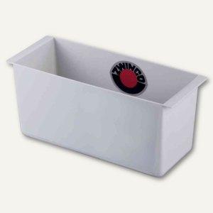 """Abfalleinsatz für Papierkorb """"quadro"""" - 2.5 Liter, 258 x 115 x 102 mm, lichtgrau"""