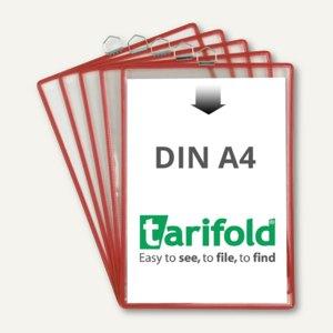 Tarifold t-view Hängesichttafel DIN A4, rot, 5 Stück, 154503