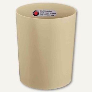 Sicherheits-Papierkorb, 13 l, durchschmelzsicher, Kunststoff, 300x250mm, beige,
