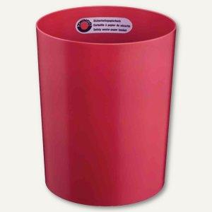 Sicherheits-Papierkorb, 13 l, durchschmelzsicher, Kunststoff, 300x250mm, rot, Z1