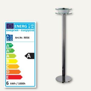 Alco LED-Stehleuchte 9056, mattiertes und klares Glas, chrom, 9056