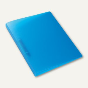 Ringbuch - A4, Rücken: 25 mm, 2-D-Ringe, PP, hellblau-transluzent, 3St., 19165