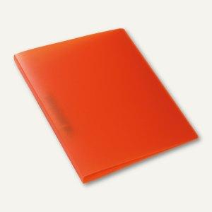 Ringbuch - A4, Rücken: 25 mm, 2-D-Ringe, PP, orange-transluzent, 3St., 19162
