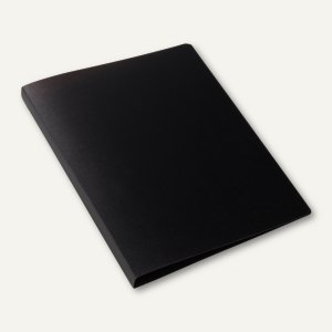 Ringbuch - A4, Rücken: 25 mm, 2-D-Ringe, PP, schwarz-transluzent, 3St., 19160