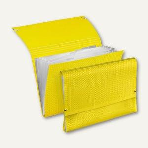 Veloflex Fächermappe VELOCOLOR - DIN A4, PP, gelb, 6er-Packs, 4445710