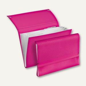 Veloflex Fächermappe VELOCOLOR - DIN A4, PP, pink, 6er-Packs, 4445771
