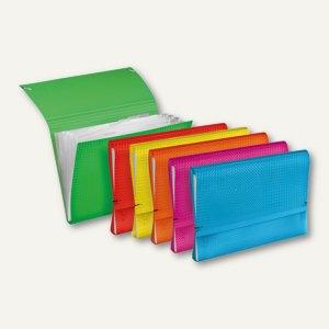 Veloflex Fächermappe VELOCOLOR - DIN A4, PP, sortiert, 6er-Packs, 4445700