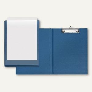 Präsentationsclipboard VELODUR - DIN A4, Einstecktasche, blau, 10er-Pack, 480465
