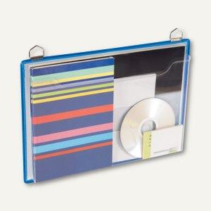 Tarifold t-view Prospekttasche mit Öse, DIN A4 quer, blau, 5 Stück, 354101