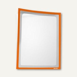Infotasche mit Ausschnitt, DIN A4, hoch, selbstklebend, orange, 5Stück, 879541