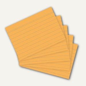 Herlitz Karteikarten, DIN A4, liniert, orange, 100 Stück, 10901163