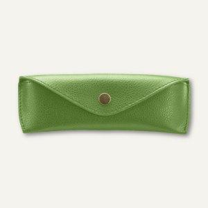 "Alassio Brillen-Etui ""S"", ca. 16 x 5.5 x 3 cm, Leder, grün, 2685"