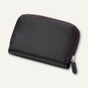 Alassio Maniküre-Etui, mit Reißverschluß, gefüllt, Leder, schwarz, 2721