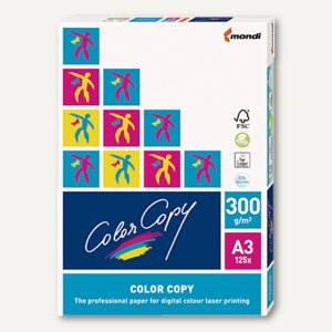 mondi Color Copy Multifunktionspapier - DIN A3, 300 g/qm, 125 Blatt, 313799