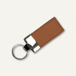 Alassio Schlüsselanhänger, Leder, inkl. Schlüsselring, 35 x 110 mm, braun, 43217