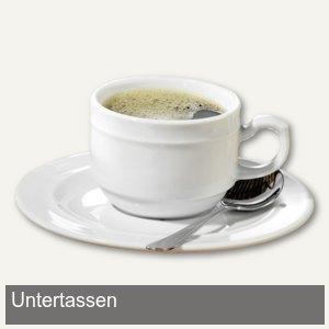 Kaffee- & Suppenuntertassenset ALICE - 6-teilig
