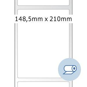 officio Rollenetiketten - 148.5x210 mm, PE-Folie, weiß glänzend, 750St., 5011
