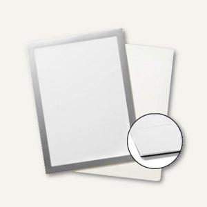 Plakatrahmen DURAFRAME GRIP, DIN A4, Klettstreifen für Textiloberflächen, silber
