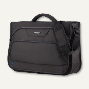 Lightpak Messengerbag SOLAR, Laptopfach, Polyester, schwarz/blau, 46119