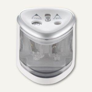 Elektrischer Anspitzer Double, Ø 6-8 + 9-12 mm, batteriebetrieben, weiß, 70519