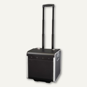 Alassio Aktenkoffer PERUGIA, Trolley, Lederimitat, schwarz, 45049