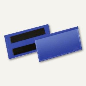 Magnetische Etikettentasche, 100 x 38 mm, blau/transparent, 50 Stück, 174107