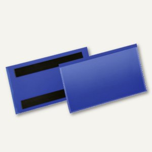 Magnetische Etikettentasche, 150 x 67 mm, blau/transparent, 50 Stück, 174207
