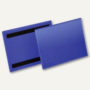 Magnetische Kennzeichnungstasche, A5 quer, blau/transparent, 50 Stück, 174307