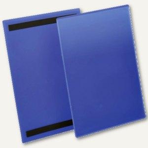 Magnetische Kennzeichnungstasche, A4 hoch, blau/transparent, 50 Stück, 174407