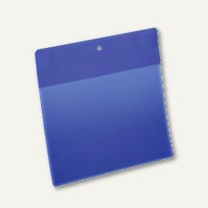 Durable Neodym-Magnettasche, A5 quer, blau/transparent, 10 Stück, 174607