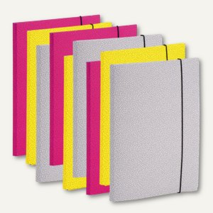 Rössler PEGGY Sammelmappe für DIN A4, 3 Farben im Set, 9 Stück, 15211195999
