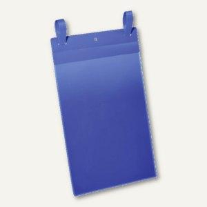 Durable Gitterboxtasche mit Lasche, A4 hoch, blau/transparent, 50 Stück, 175007