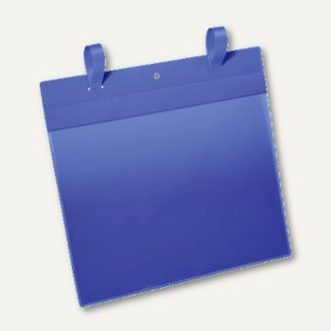 Durable Gitterboxtasche mit Lasche, A4 quer, blau/transparent, 50 Stück, 175107