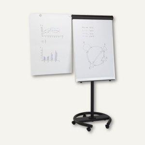 Umwandelbares Flipchart, Tisch/Flipchart, 700 x 1.000 mm, H 1900 mm, mobil, schw